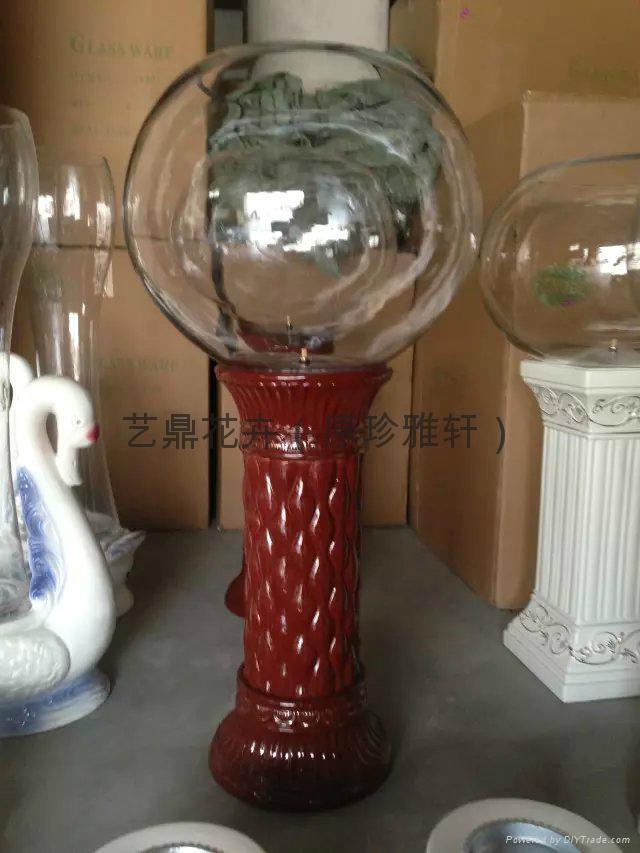高档电子水培花瓶氧气灯光花瓶 3