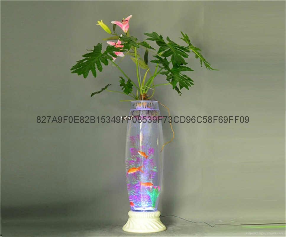 無土栽培花卉燈光氧氣水培玻璃花瓶 1