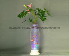 无土栽培花卉灯光氧气水培玻璃花瓶