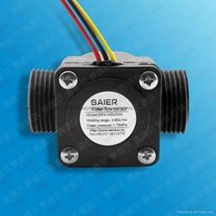 SAIER/赛盛尔6分管径霍尔原理流量传感  IC卡流量计