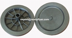 250mm Dustbin rubber wheel for garbage bin container