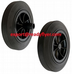250mm Mobile Garbage Bin Wheel for 240L 360L Plastic Dustbin