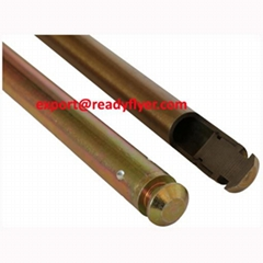 Semi-hollow axle shaft for mobile garbage bin container