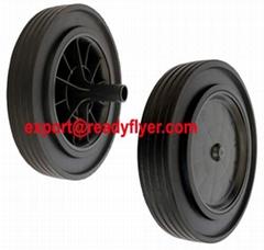 """300mm/12"""" wheelie bin wheel for 120L 240L plastic dustbin"""