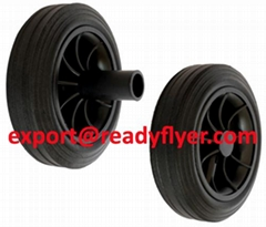 "175mm/7"" Mobile Waste Bin Rubber Wheel for Garbage Bin Container"