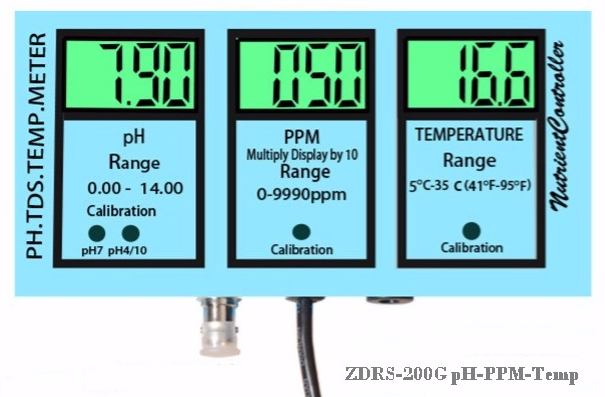 ZDRS-200G pH & TDS,Temp Monitor(3 in 1) 2
