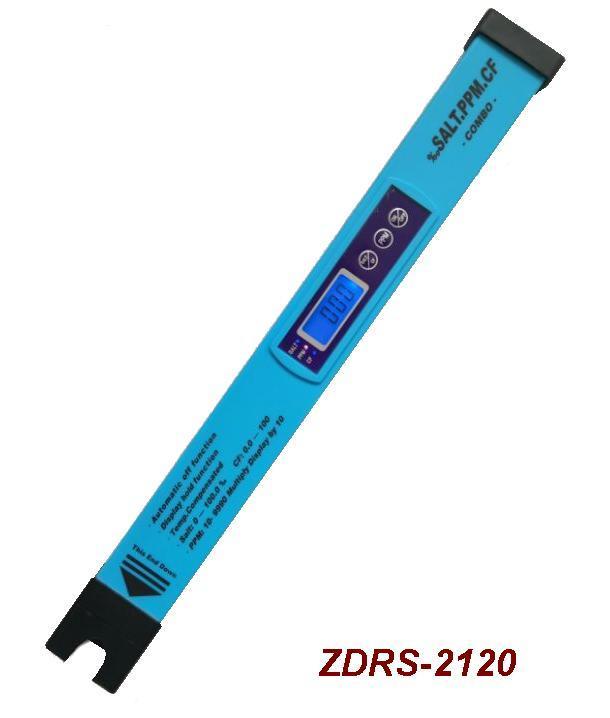 ZDRS-2120高精度‰盐分/TDS/CF数字测试仪WR(3合1) 1