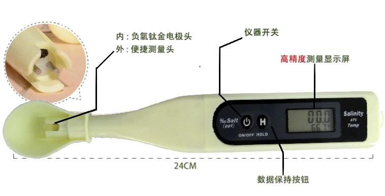ZDST-2121 ‰盐分/温度数字测试仪(2合1) 2