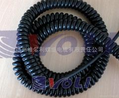 3芯拉伸长度4.5米电源螺旋电缆
