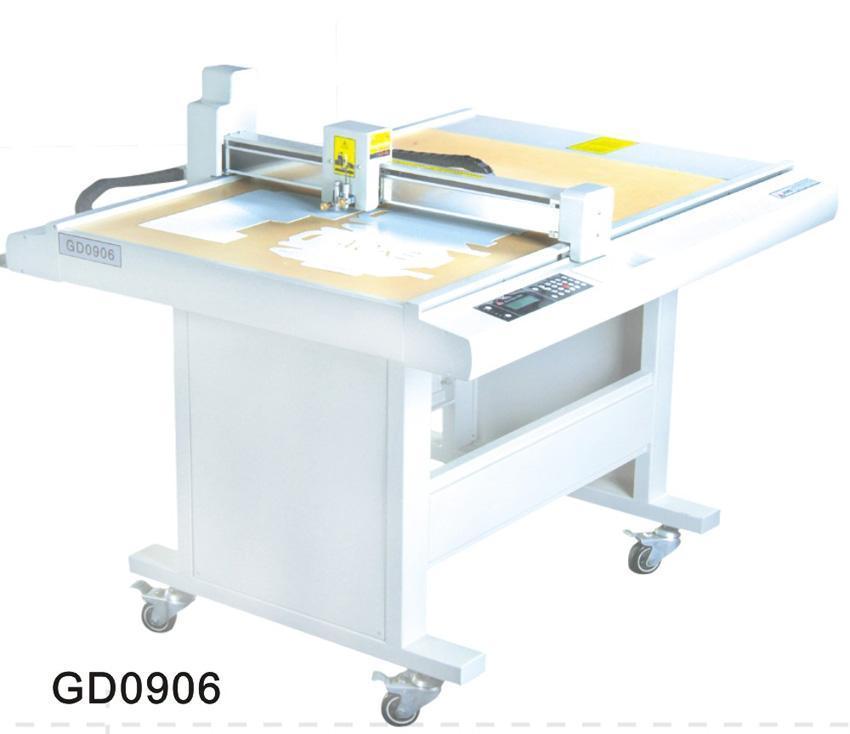 GD0906 paper box sample maker flatbed cutter table plotter machine