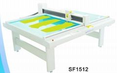 SF1512 costume die cut plotter sample flat bed machine