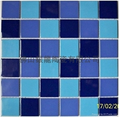 Ceramic Mosaic swimming