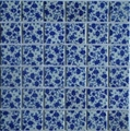 Ceramic Mosaic of blue and white