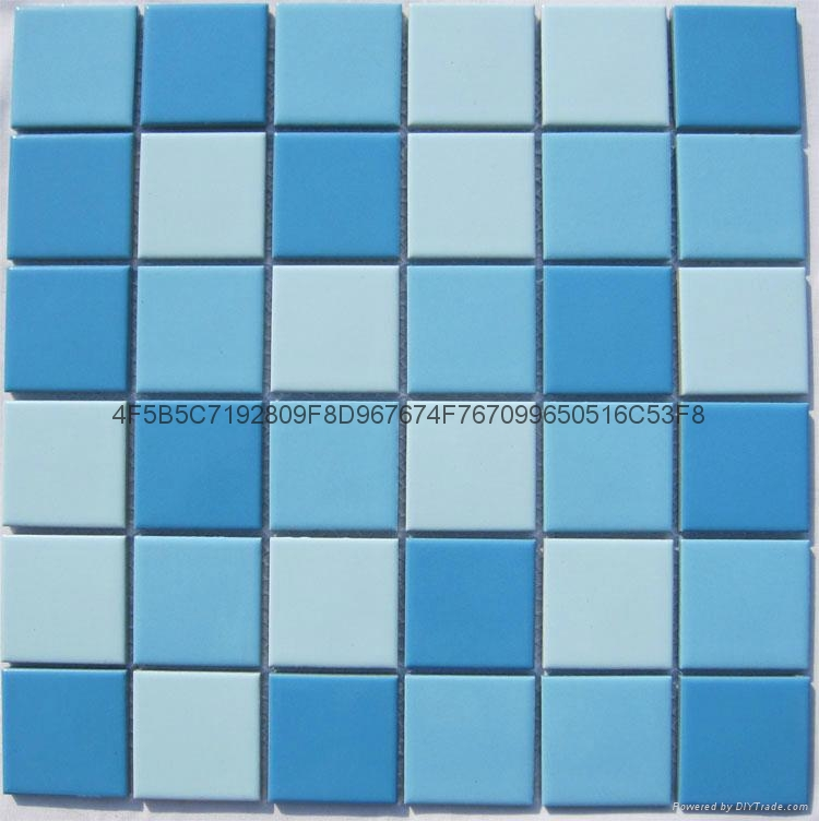 Ceramic mosaic floor tile