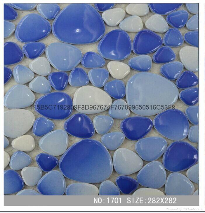 陶瓷鵝卵石自由石河卵石馬賽克 1