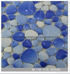 Freedom of ceramic pebble stone mosaic