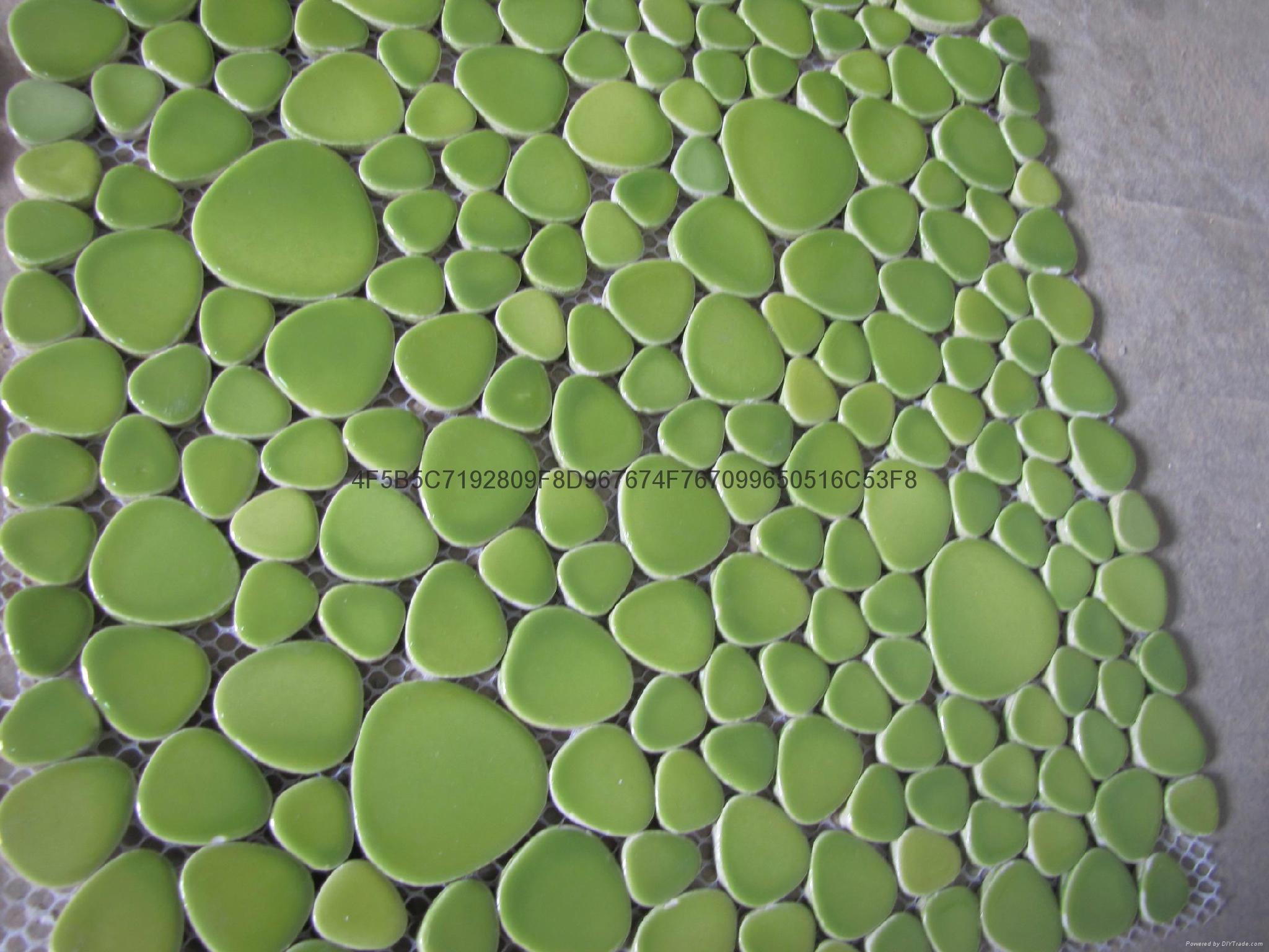 陶瓷鵝卵石自由石河卵石馬賽克 3