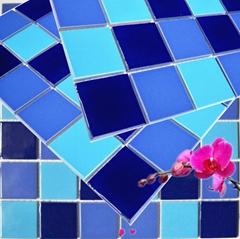 陶瓷游泳池马赛克 泳池砖