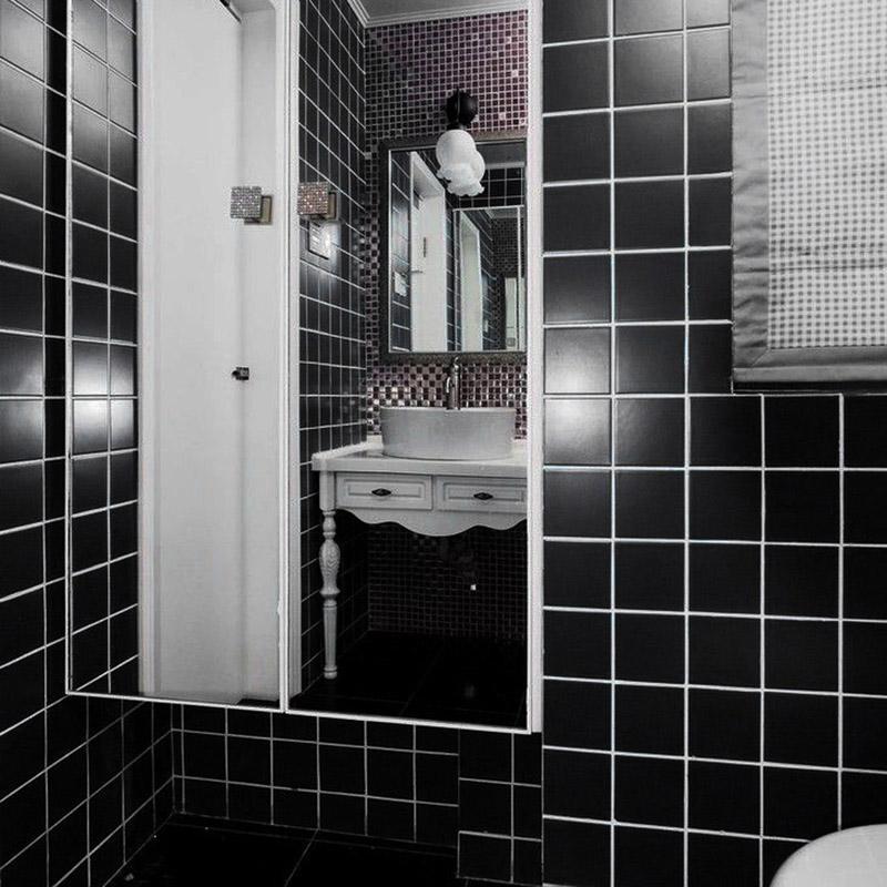 泸州陶瓷马赛克防滑瓷砖耐磨48黑白地砖 1