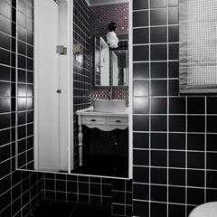 四川陶瓷马赛克防滑瓷砖耐磨48黑白地砖