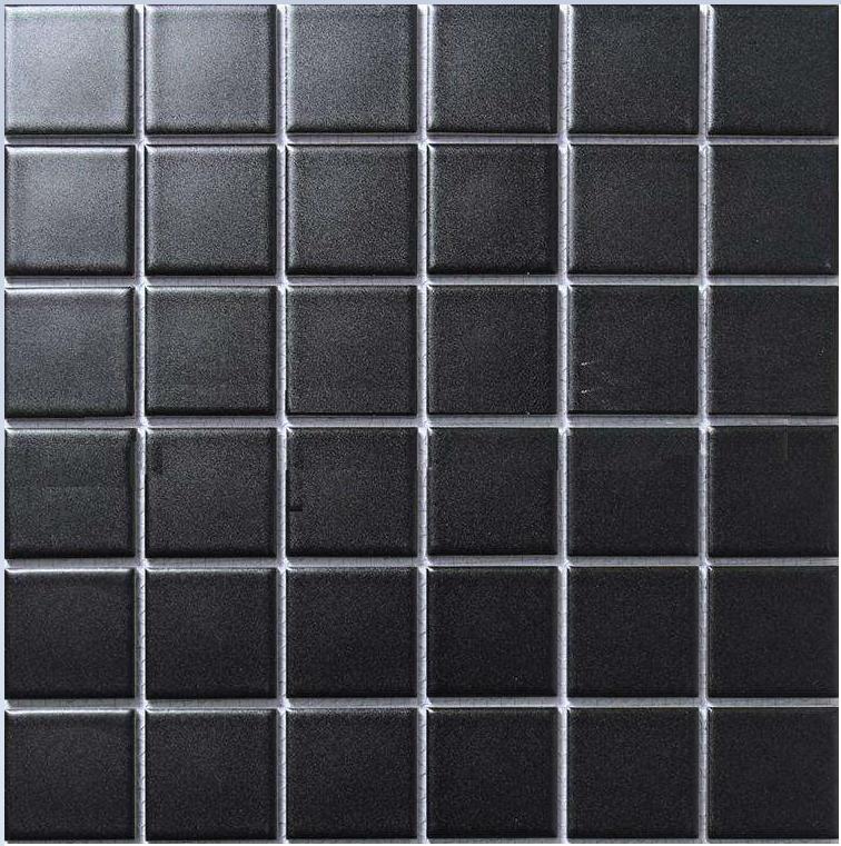 泸州陶瓷马赛克防滑瓷砖耐磨48黑白地砖 4