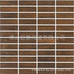 Wood grain ceramics mosaic
