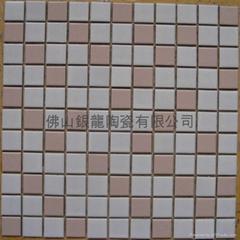 藝朮陶瓷釉面馬賽克瓷磚藍色粉色公主夢幻儿童房幼儿園背景牆