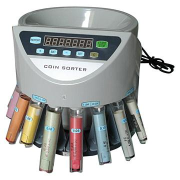 Coin counter and sorter 4