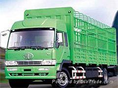 物流运输9.6米长途货运汽车篷布车