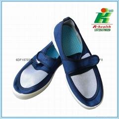 LINKWORLD防静电帆布扣带网面工作鞋子
