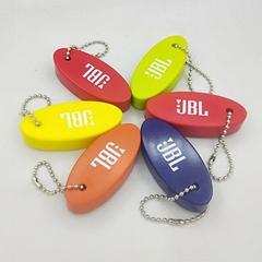 廣州廠家直銷PU珠鏈浮標 PU球鑰匙扣 PU橢圓形浮標挂件