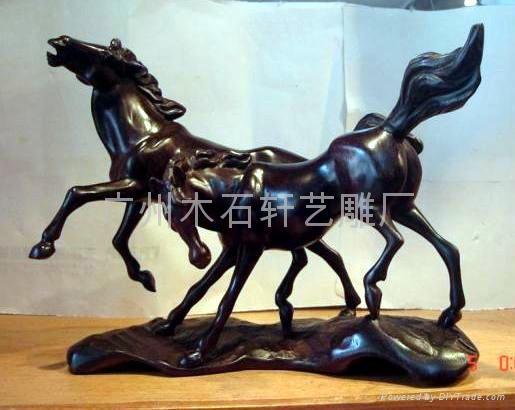 紅木雕馬 3