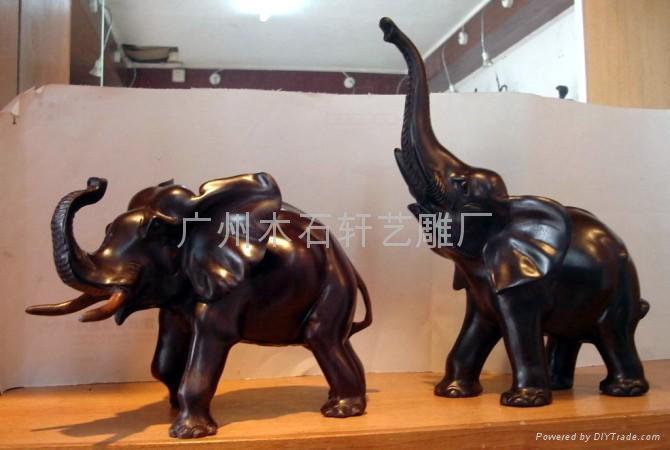 紅木雕大象 3