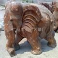 紅木雕大象 4