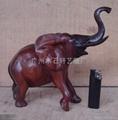 紅木雕大象 5