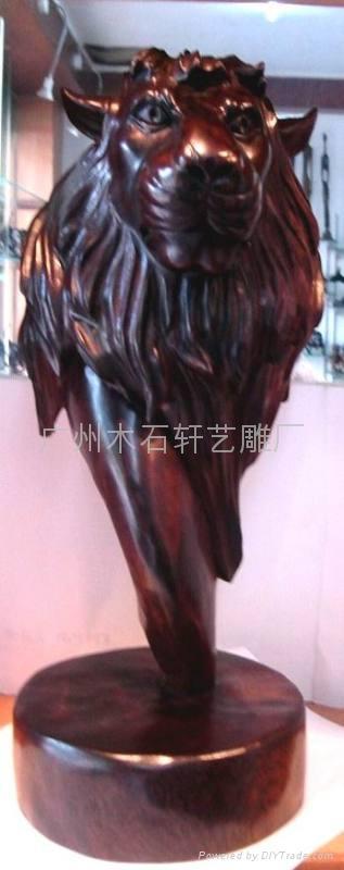 紅木雕獅子 4