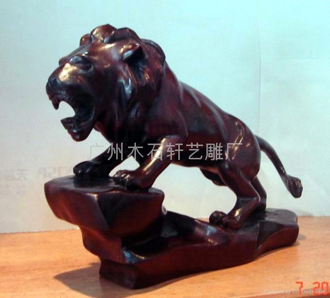 紅木雕獅子 5