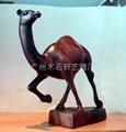 紅木雕駱駝 5