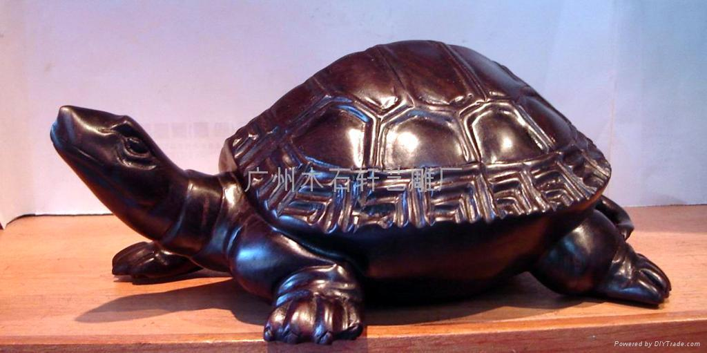 紅木雕烏龜 2