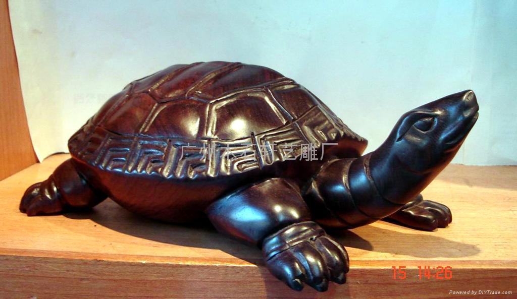 紅木雕烏龜 4