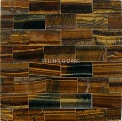Nature tiger-eye stone mosaic slab