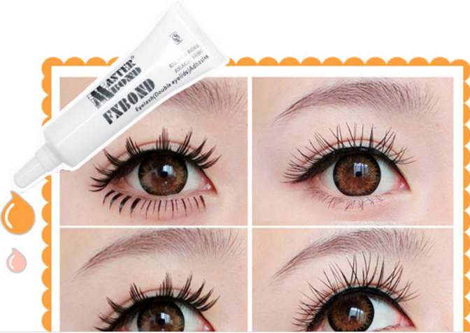 white eyelash glue for strip lashes  4