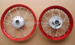 Dirt Bike Alloy Rim + Hub - Disc Brake Version- All sizes available