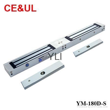 意林品牌 YM-180D-S 180kg雙門電子磁力鎖附信號輸出(350lbs*2) CE/UL/MA 1