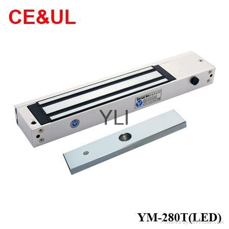 意林品牌YLI YM-280T(LED)280kg單門磁力鎖帶信號,LED和延時功能 CE/UL/MA 1