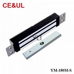意林品牌 YM-180M-S 180kg單門嵌入式電子磁力鎖附信號輸出(350lbs) CE/UL/MA