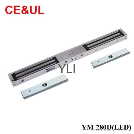 意林品牌YLI YM-280D(LED)280kg深圳雙門電子磁力鎖帶信號和LED CE MA 1