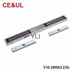 意林品牌YLI YM-280D(LED)280kg深圳双门电子磁力锁带信号和LED CE MA