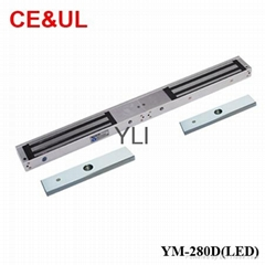 YLI YM-280D(LED) Double door electronic magnetic lock W/LED and signal(600Lbs*2)