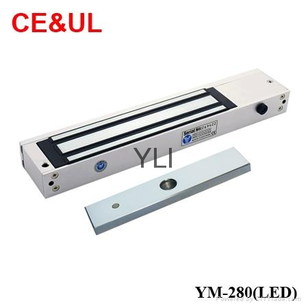 意林品牌YLI YM-280(LED)280kg單門磁力鎖帶信號和LED CE UL MA 1